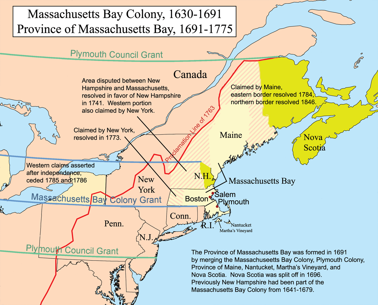 Differences between the Chesapeake Bay and New England Colonies