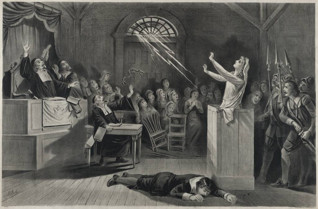 the salem witch hunt in the town of new england in the play the crucible by arthur miller