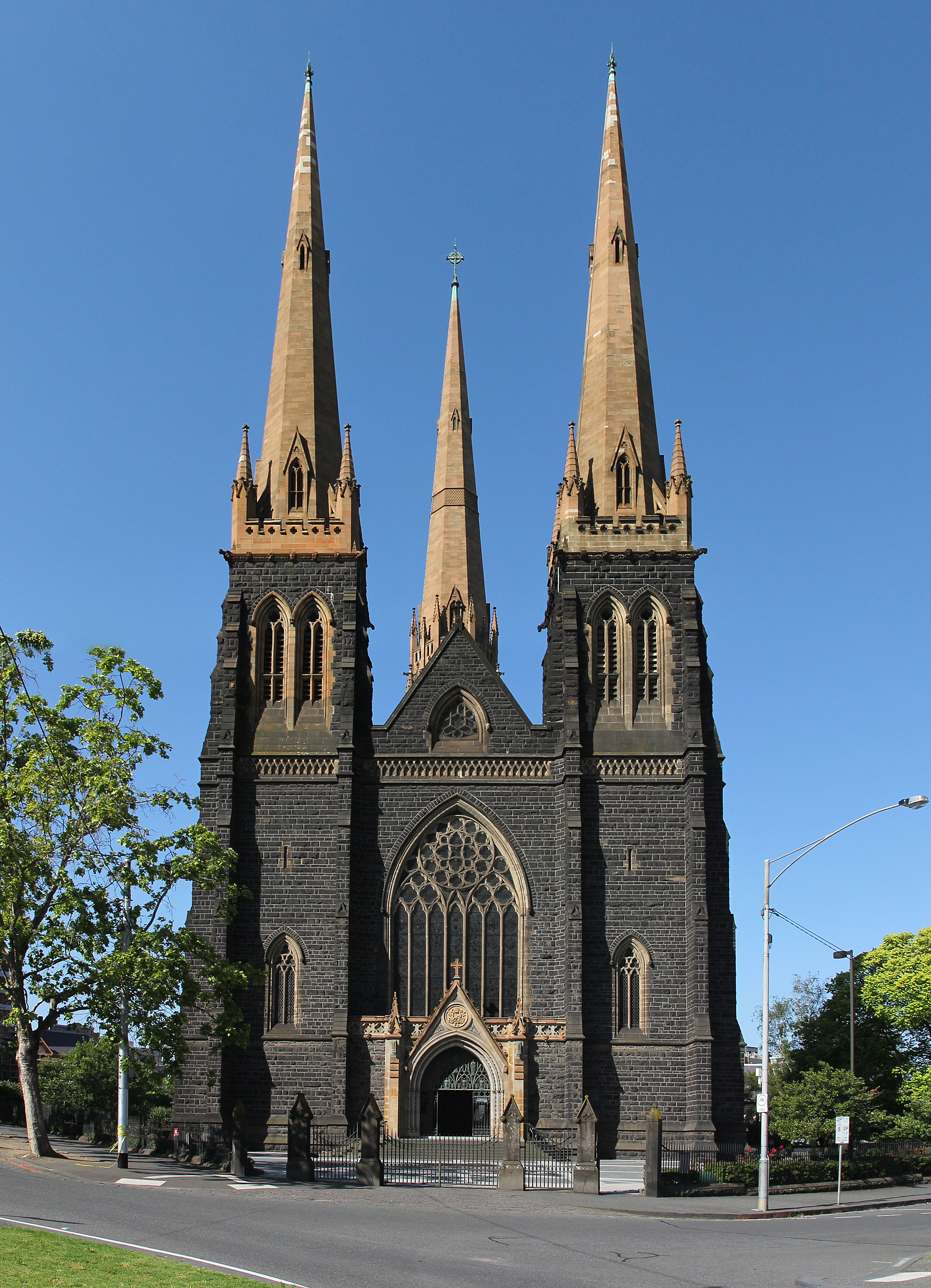 St Patricks Cathedral Main Entrance Southwest Facade Melbourne