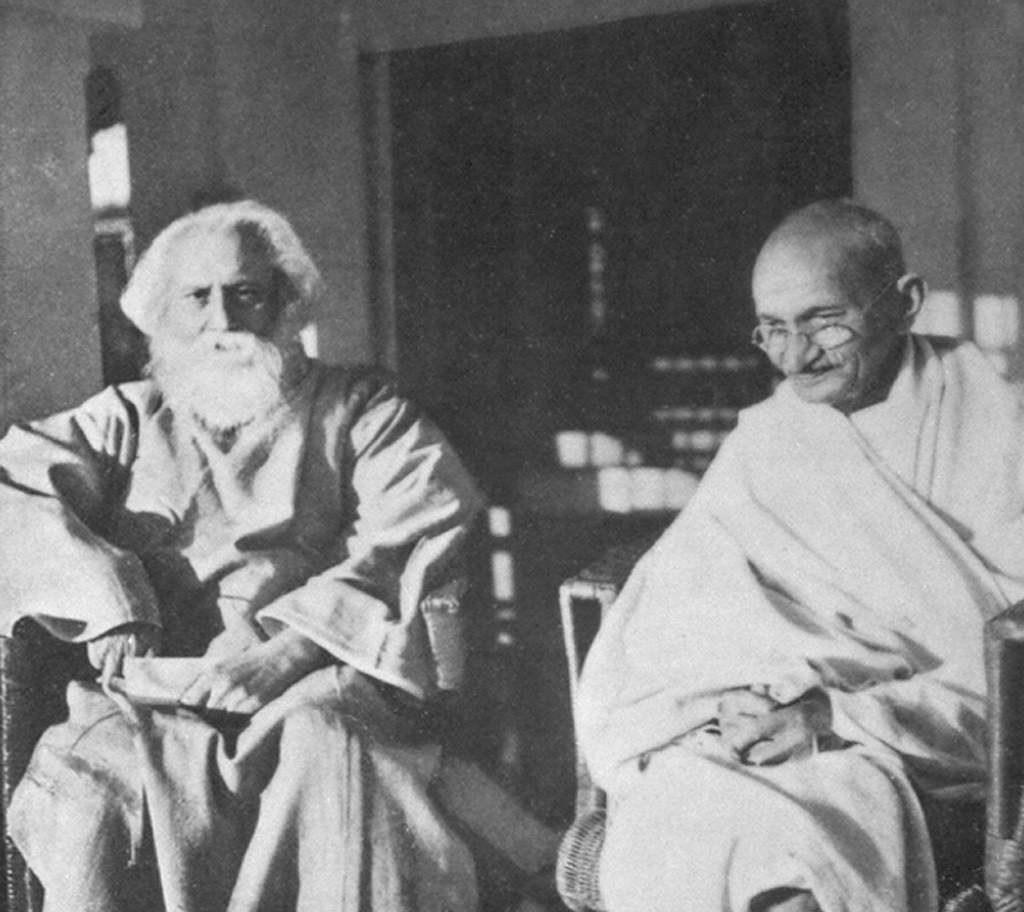 tagore and gandhi essay Traveling with tagore,  he was referring to a newspaper column where i had spoken of rabindranath tagore, mahatma gandhi,  in the middle of this essay, tagore.