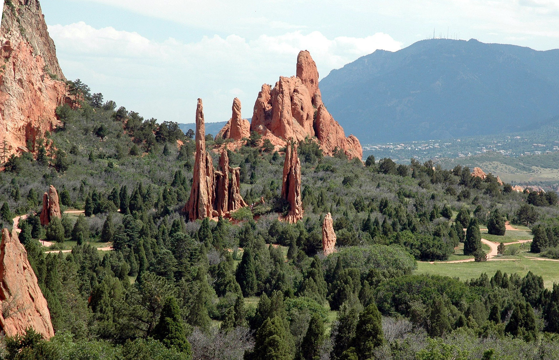 Garden Of The Gods, A Public Park Famous For Its Towering Red Rock  Formations.