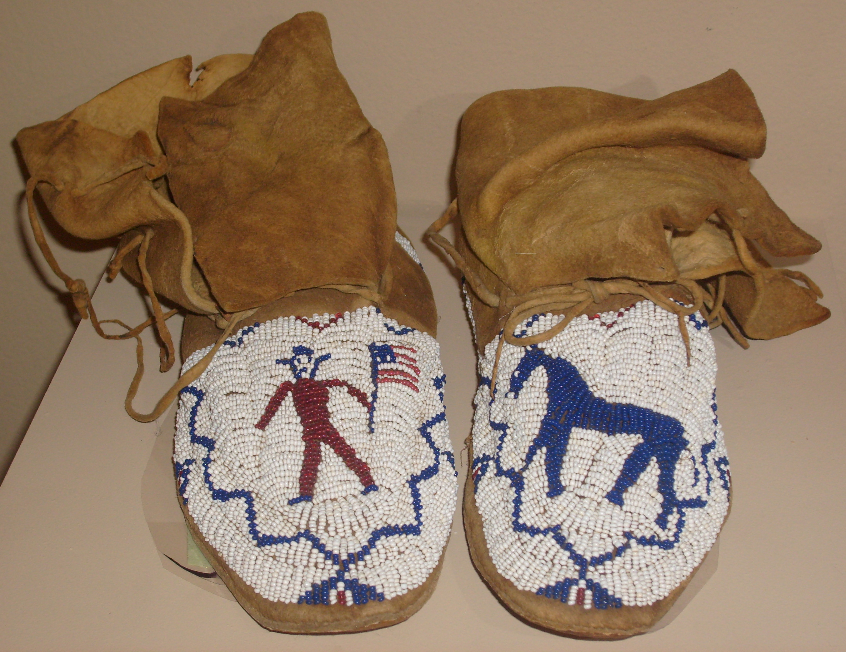Beaded Moccasins Originally From The Estate Of Chief Washakie Wind River Reservation Shoshone