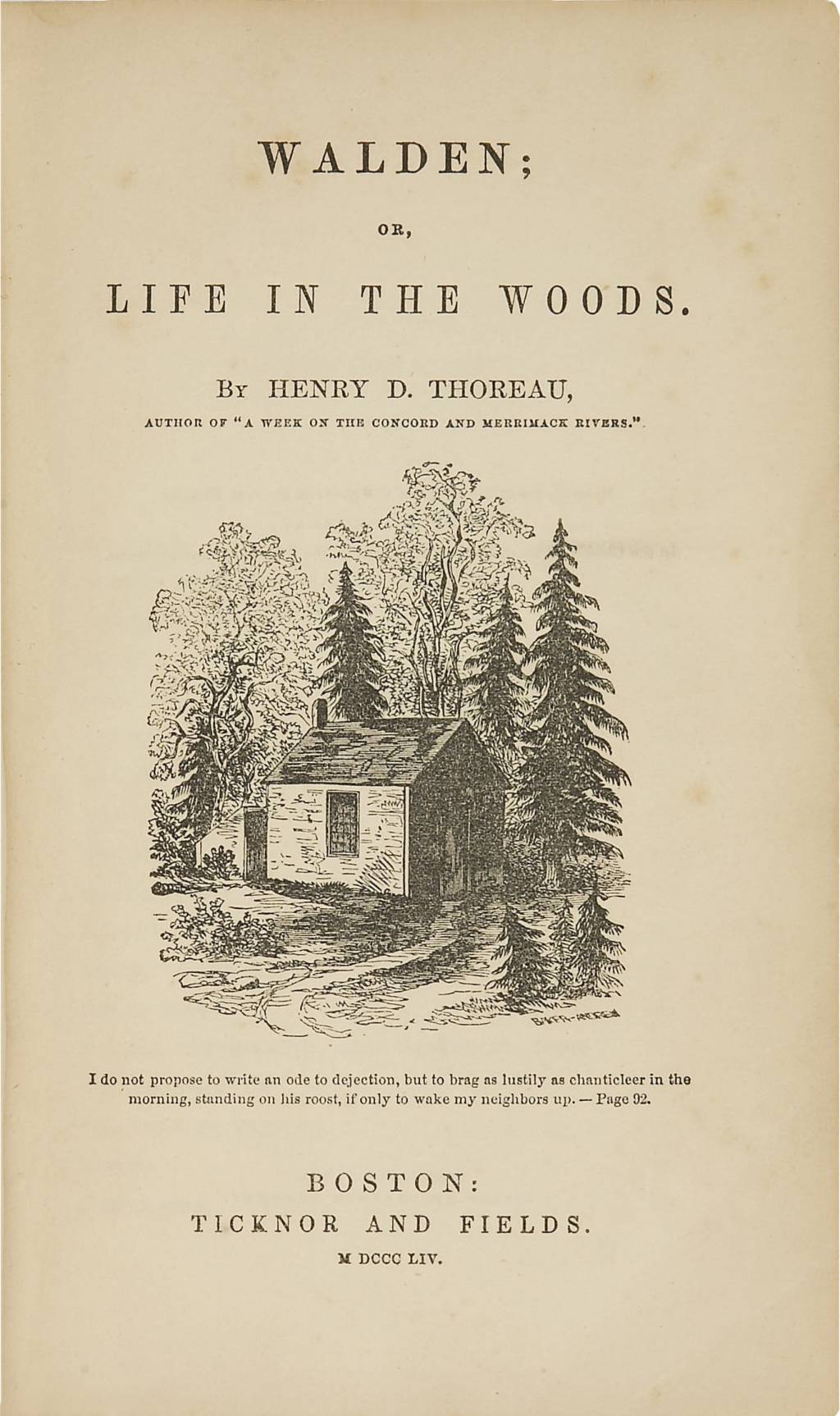 comparison between transcendentalism and r ticism what are the  original title page of walden featuring a picture drawn by thoreau s sister sophia