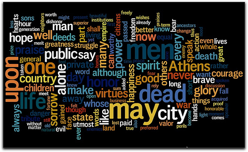 do you believe everything pericles says about athens in the funeral oration Read the funeral oration of pericles in the ancient history source book at fordham university do you believe everything pericles says about athens in the funeral.