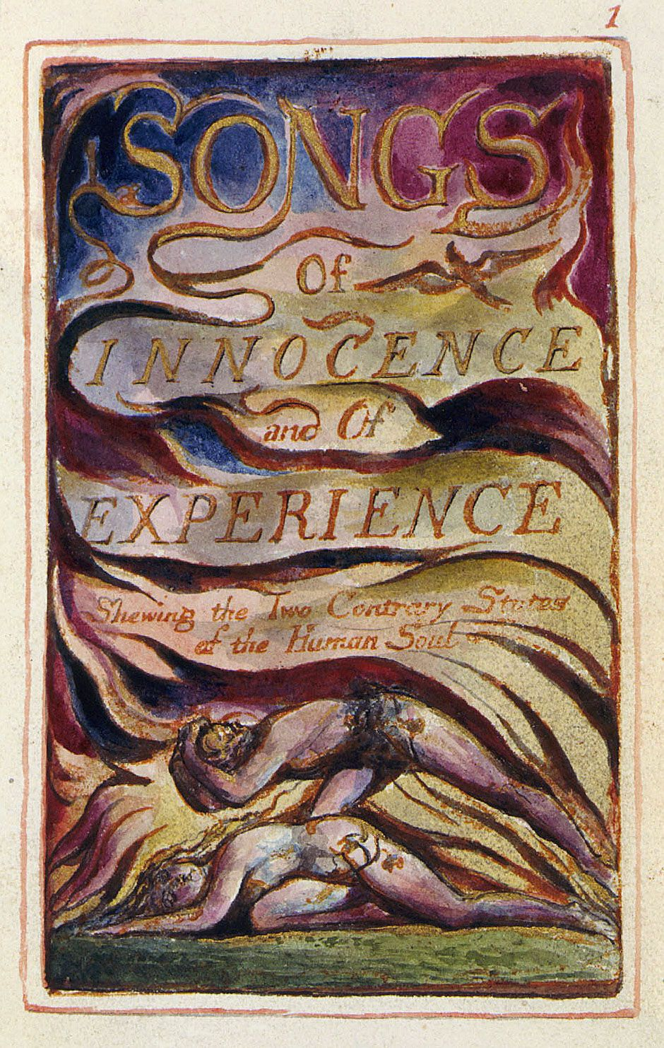 blake s the clod the pebble innocence vs experience writework william blake s frontispiece for songs of innocence and of experience