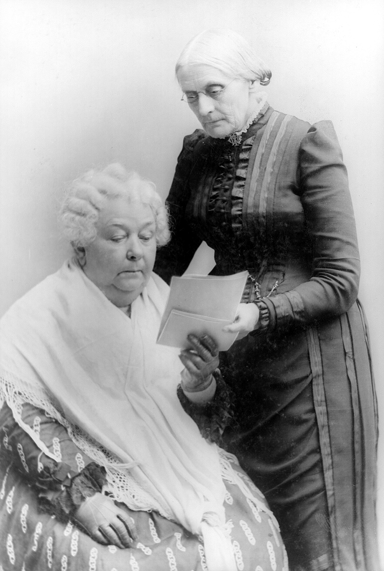 Womens Rights In The United States In The S  Writework Elizabeth Cady Stanton Seated With Susan B Anthony Standing
