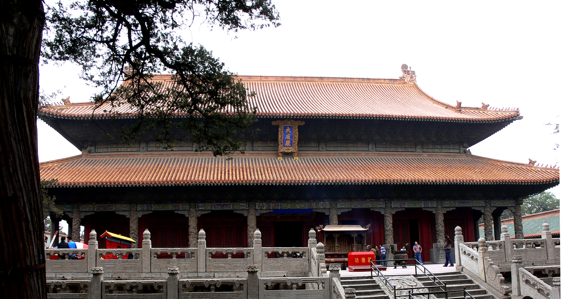 equilibrium and harmony is the core of the confucianism  english the dacheng hall the main hall of the temple of confucius in qufu