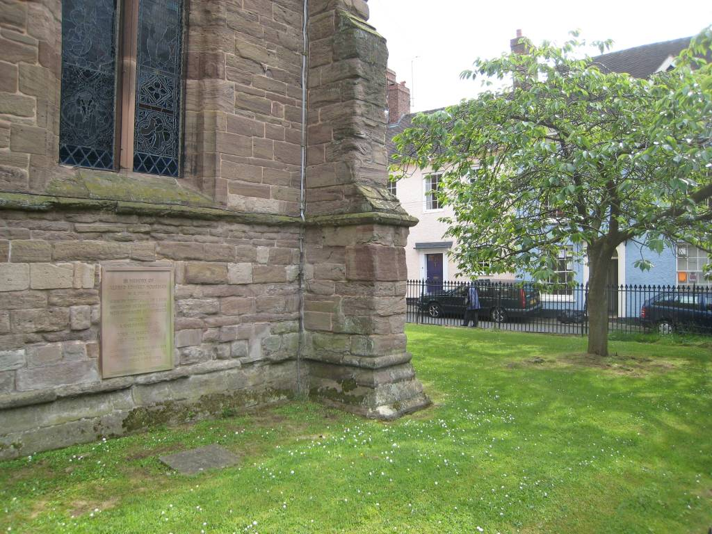 to an athlete dying young a e housman  housman s grave at st laurence s church in ludlow shrophire england note the