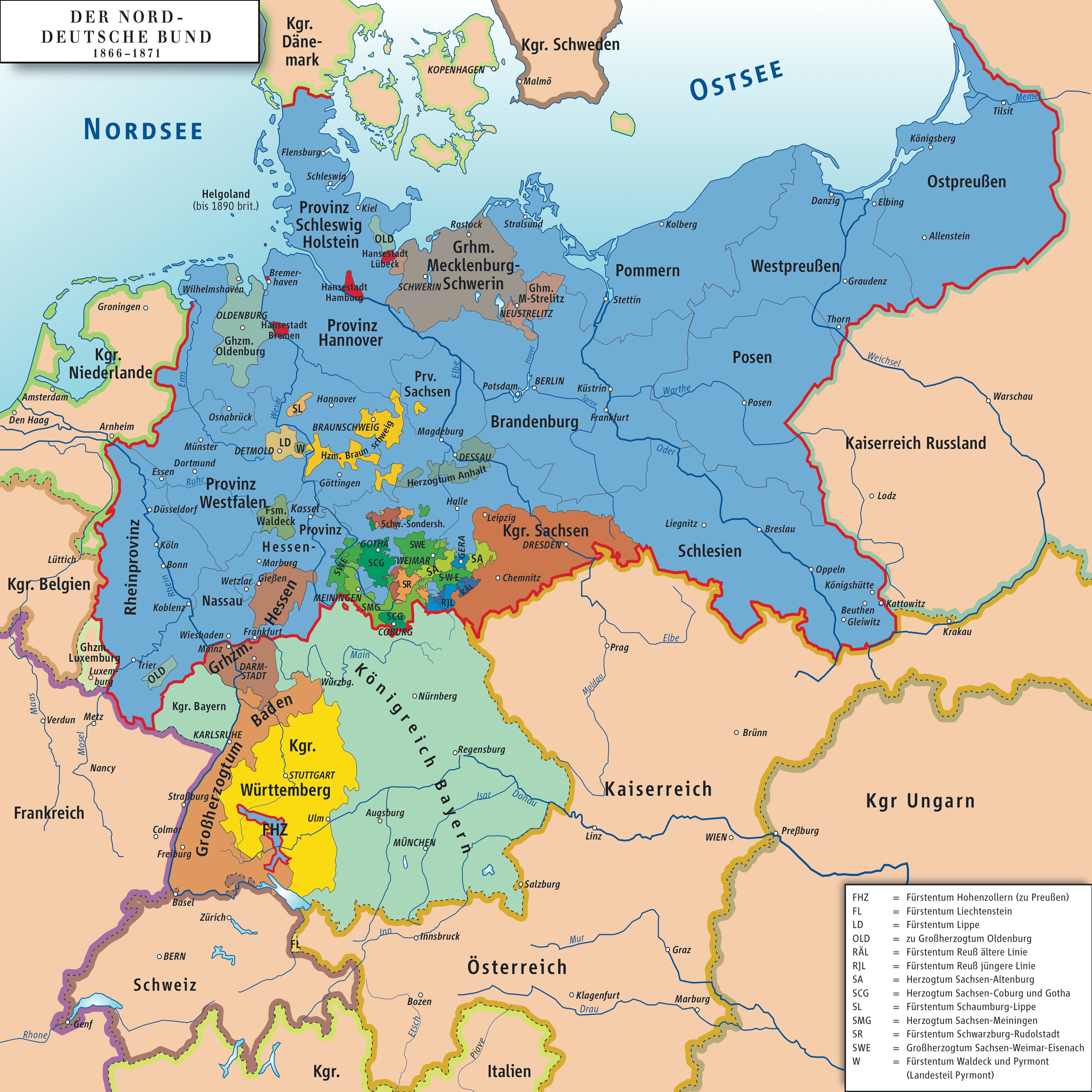 outlines german unification and bismarks envolvement writework karte des norddeutschen bundes 1866 1871 map of north german confederation 1866 1871