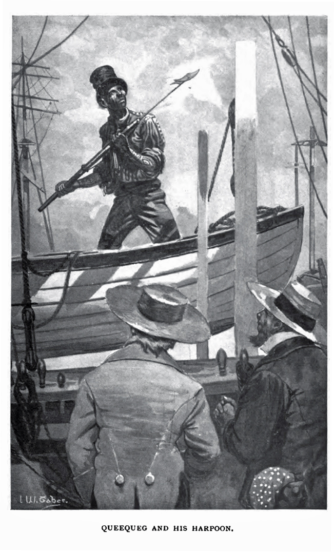 moby dick and its biblical allusions writework english illustration of queequeg and his harpoon