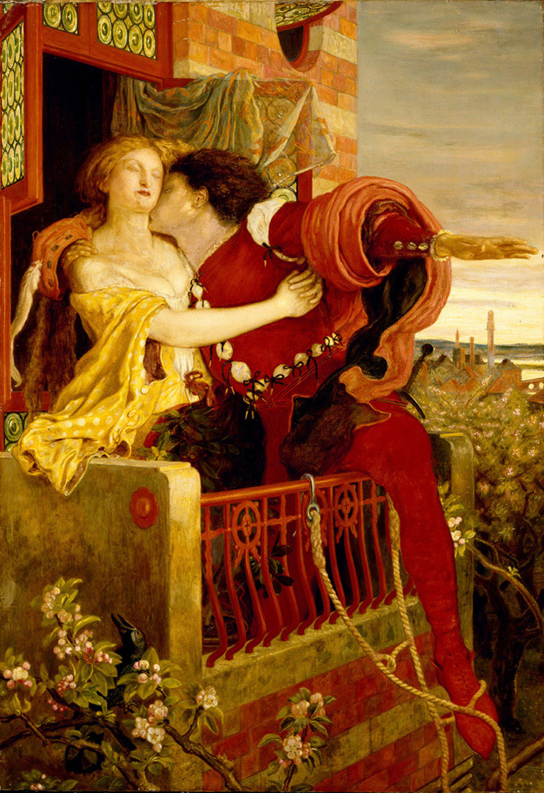 intensional or accidental similarities of romeo and juliet to an 1870 oil painting by ford madox brown depicting romeo and juliet s famous balcony scene