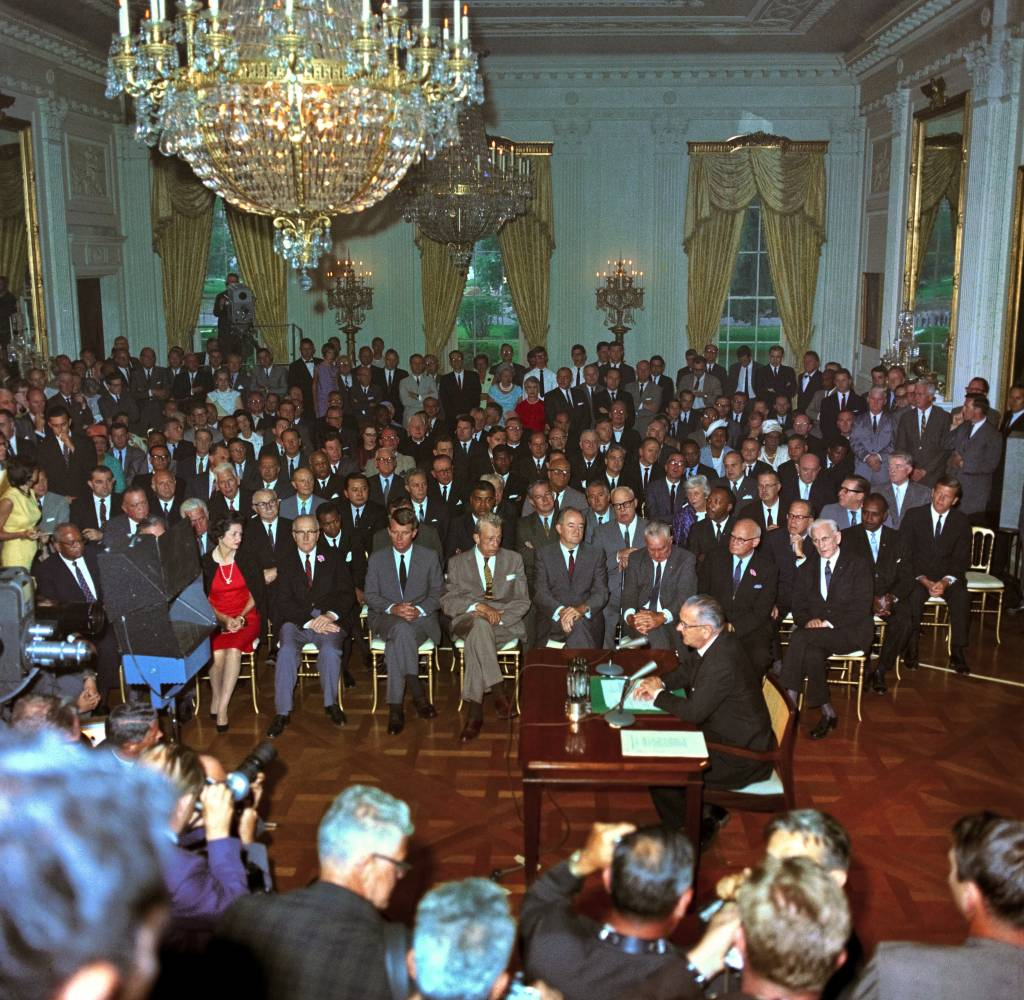 Image result for lbj signed into law the civil rights bill in 1964 dbq essay