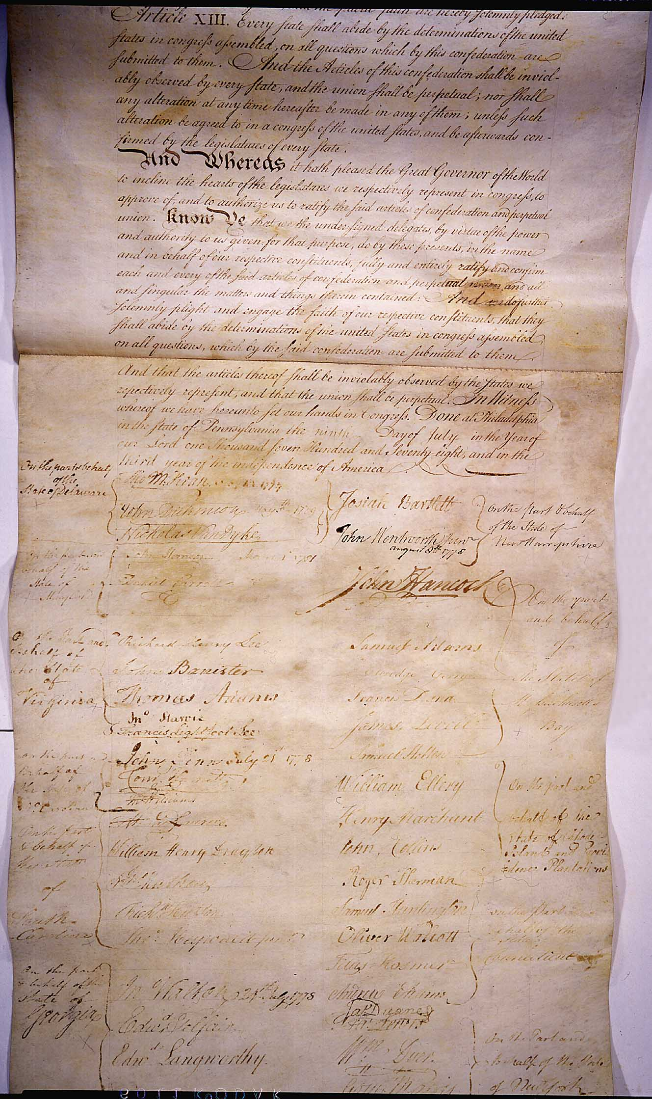 from 1781 to 1789 the articles of confederation provided the united states with an effective governm
