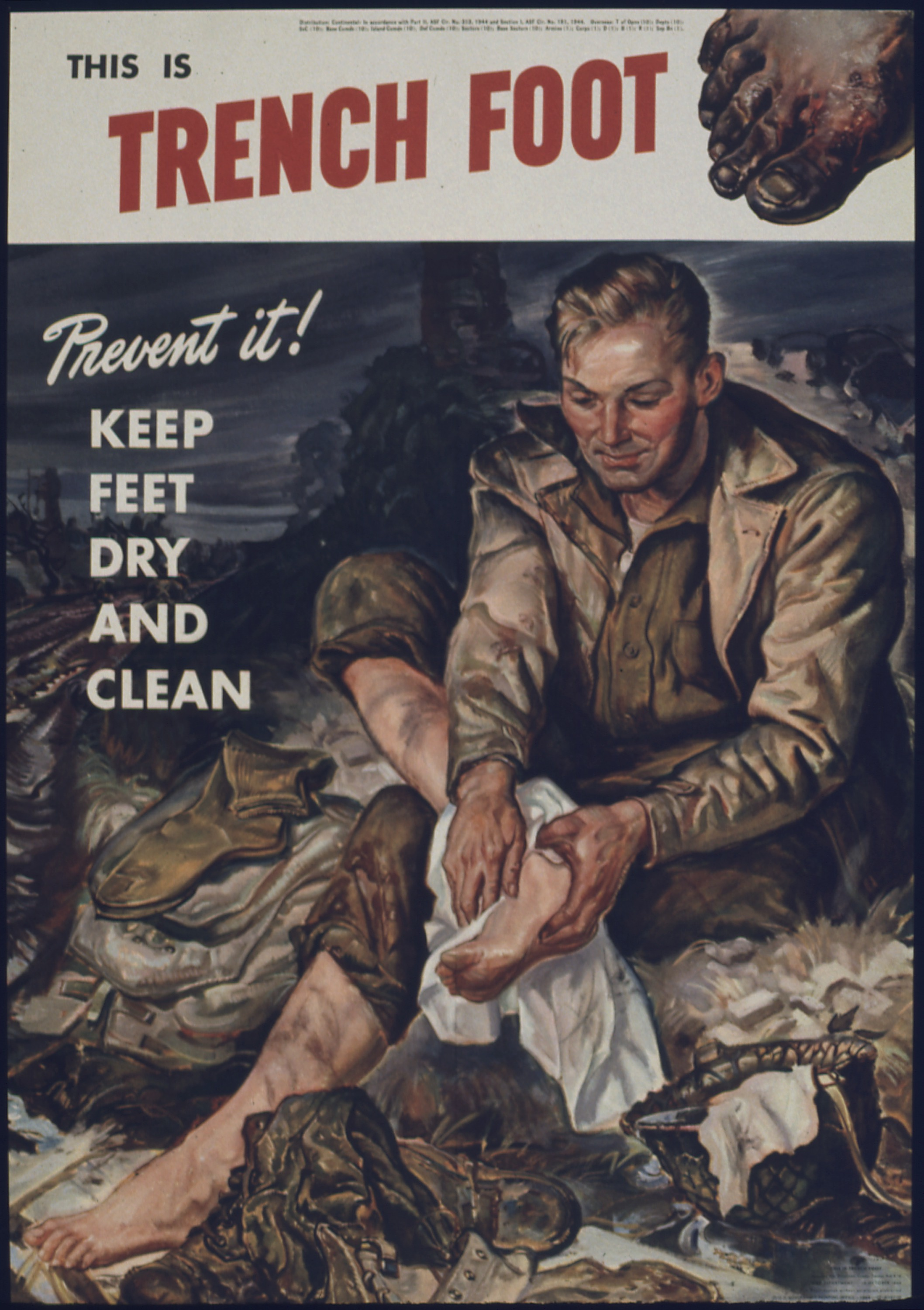 life in the trenches letter home writework this is trench foot prevent it^ keep feet dry and clean nara