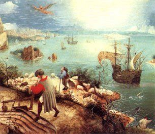 landscape with the fall of icarus poem summary