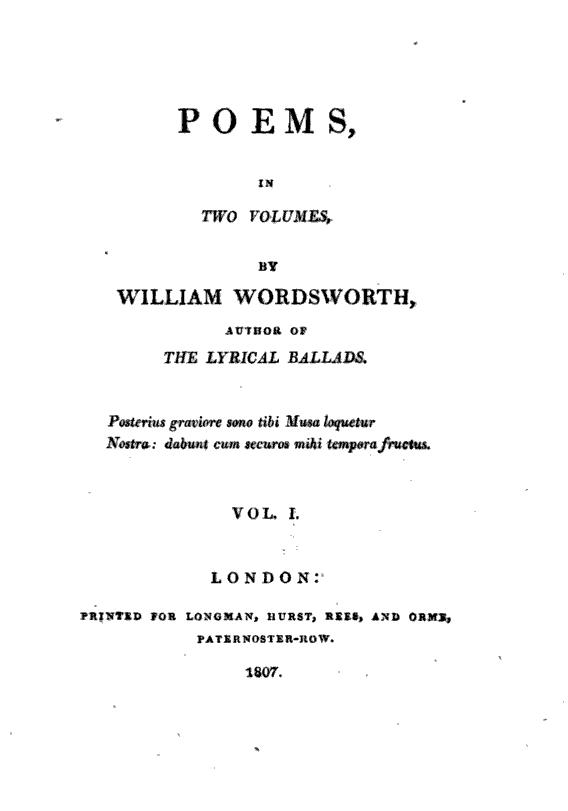 figures of speech in william wordsworth si wandered lonely as a cloud The speaker of the world is too much with us believes that if he were a pagan, he would be more responsive to nature the imagery in i wandered lonely as a cloud appeals mainly to the sense of.