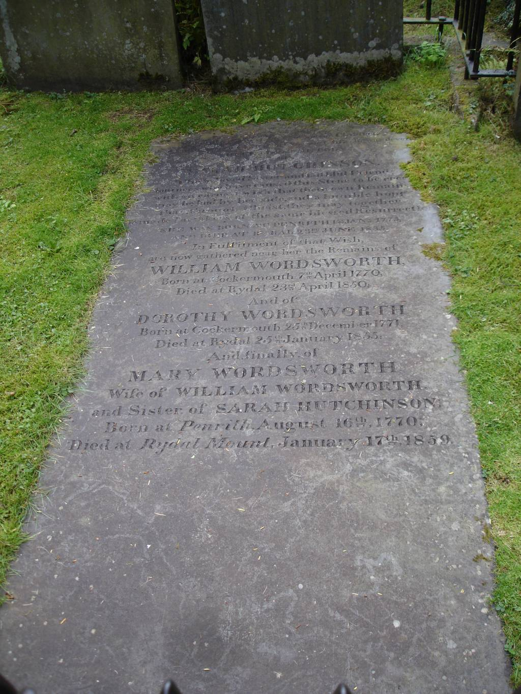 a critical appreciation of from the prelude by william  photograph of the gravestone of william wordsworth grasmere cumbria england