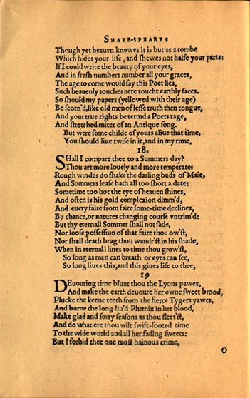 sonnet s eternal beauty writework english a facsimile of the original printing of shakespeare s sonnet 18 source