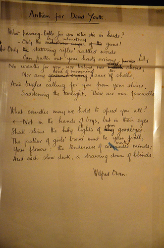 Anthem for doomed youth by wilfred owen essay