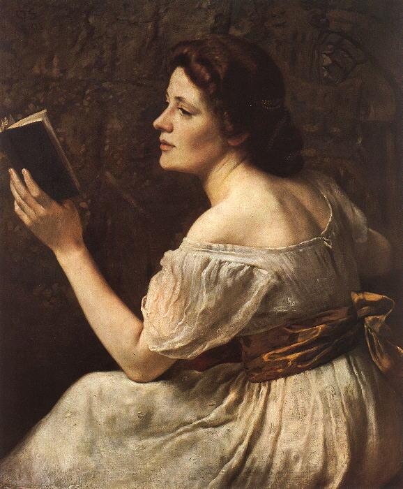 a short response to mary wollstonecraft s a vindication of the  otto scholderer s young girl reading 1883 in mary wollstonecraft criticizes women who