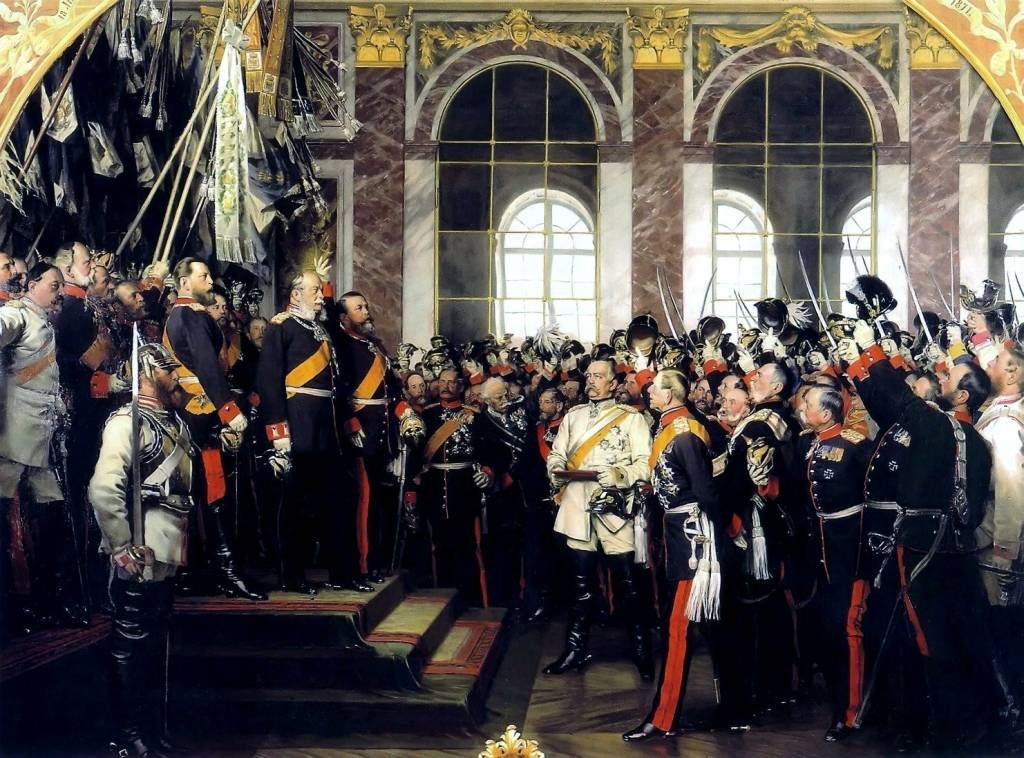to what extent was bismarck responsible for the unification of  foundation of the german empire in versailles 1871 bismarck is at the centre in