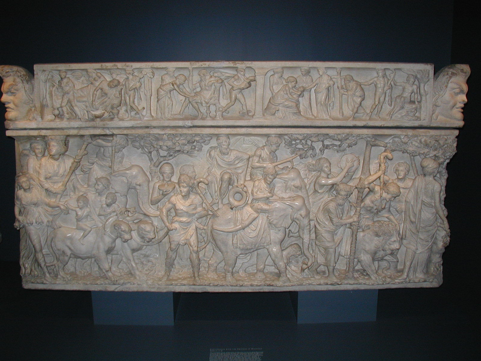 analysis of sarcophagus with the triumph