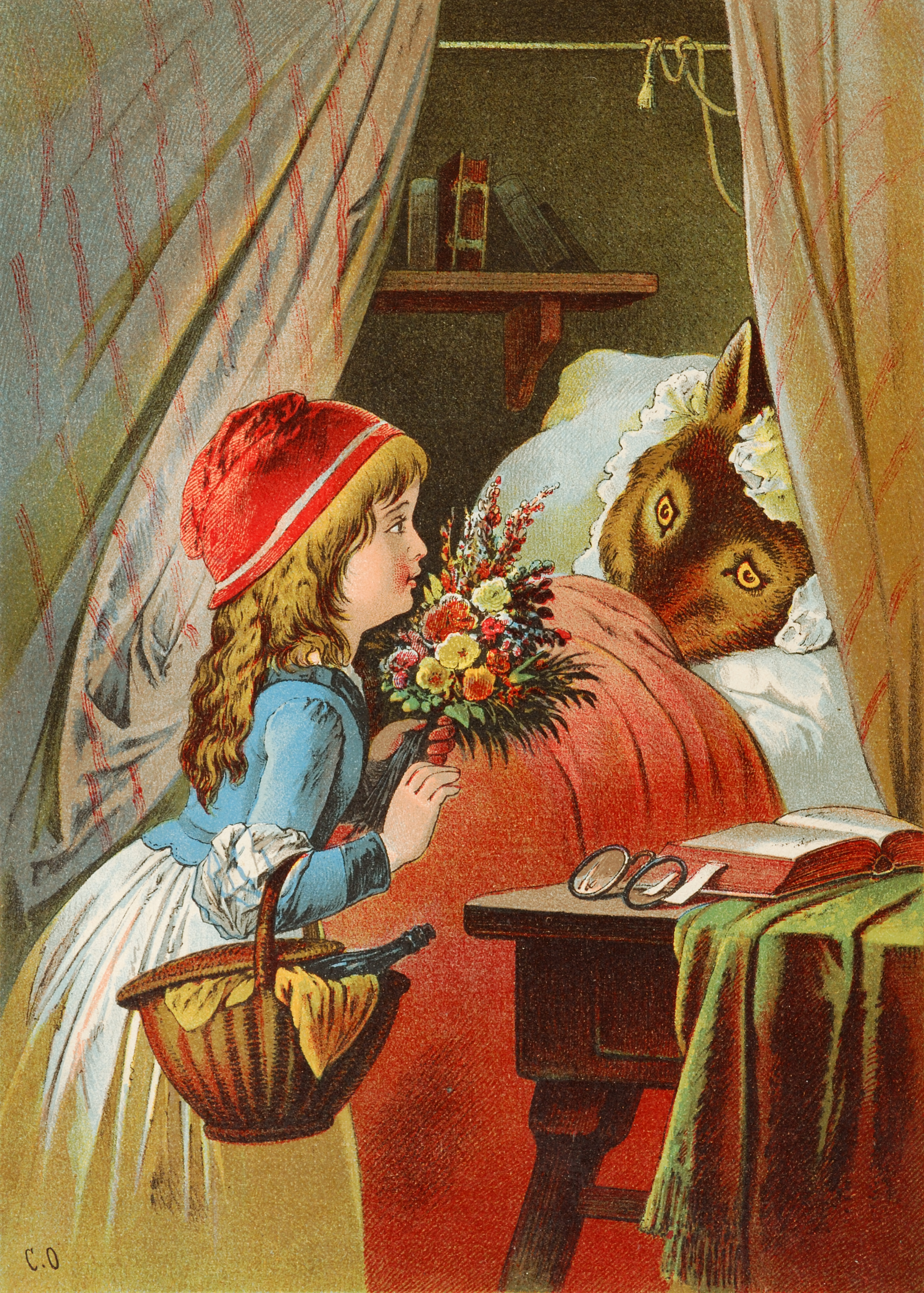 texts often represent women as victims in a patriarchal society english little red riding hood illustration by carl offterdinger deutsch rotkatildecurrenppchen illustration
