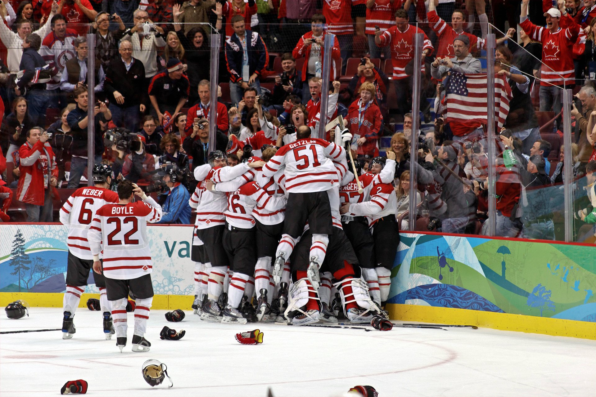 hockey s influence on a page essay on the impact the the canadian men s ice hockey team celebrates winning the gold medal in overtime over the united