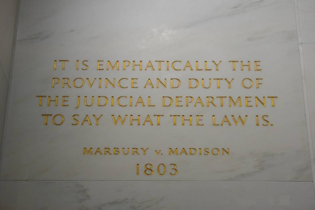 marbury v madison case brief writework inscription on the wall of the supreme court building from marbury v madison in