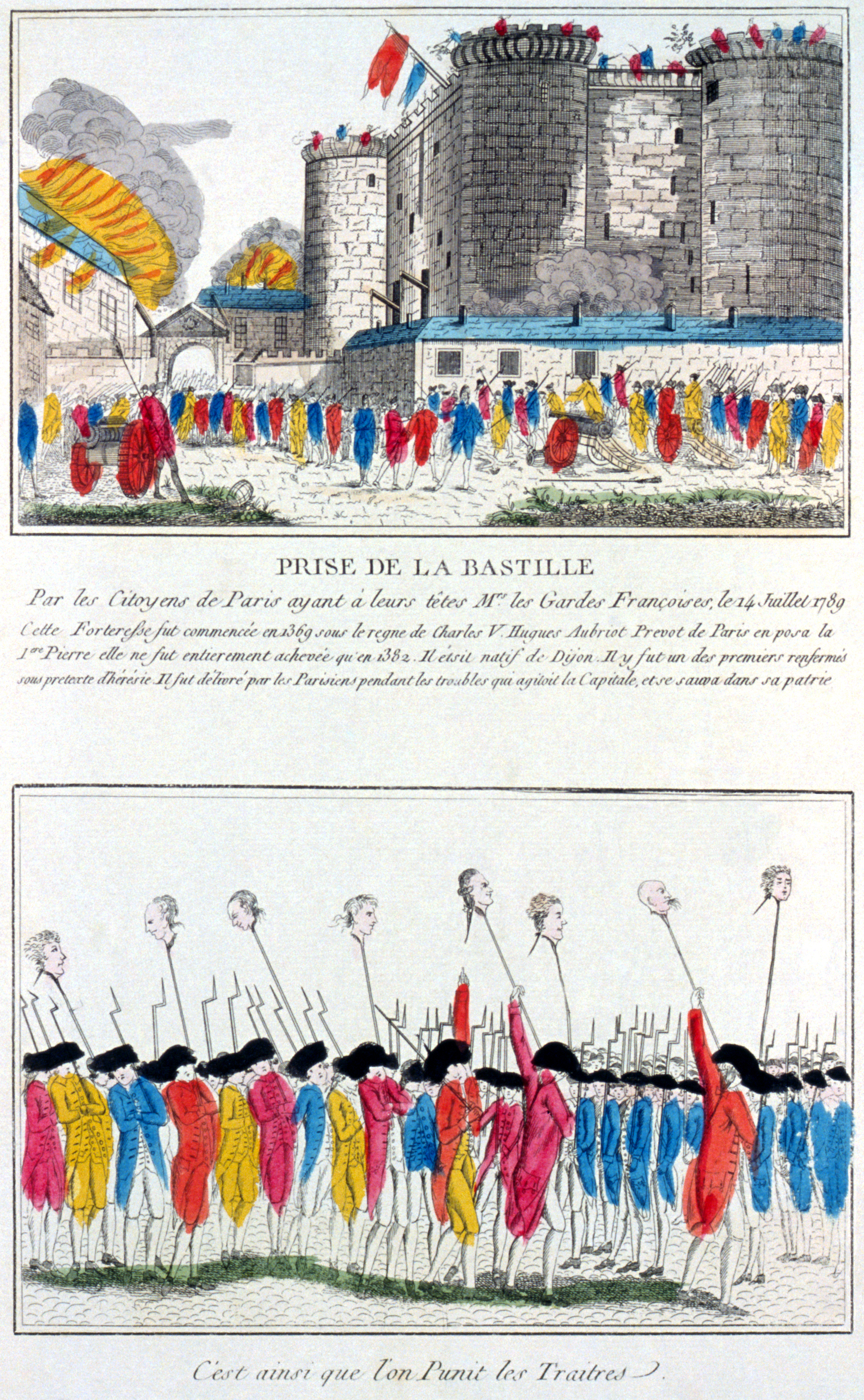 a recount of the event that took place during the french revolution
