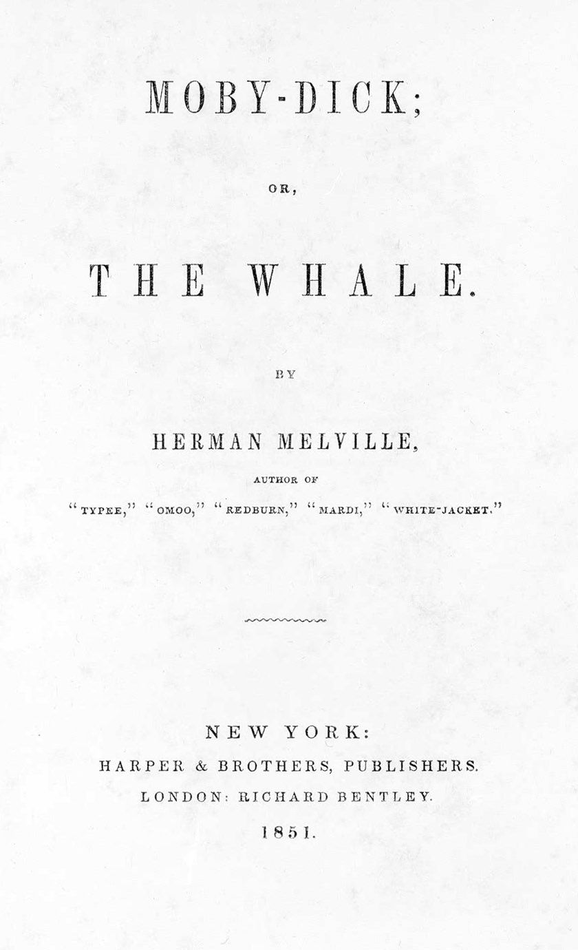 revenge caused by injury and it s consequences in herman title page of the first edition of moby dick 1851 source beinecke