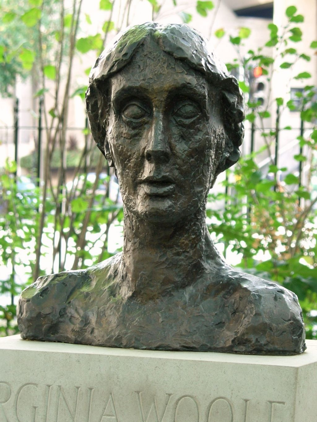 the color imagery in the lighthouse by virginia woolf  english bust of virginia woolf tavistock square london by stephen tomlin