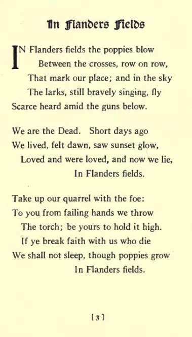 In Flanders Field Poem Meaning Sitedoct Org
