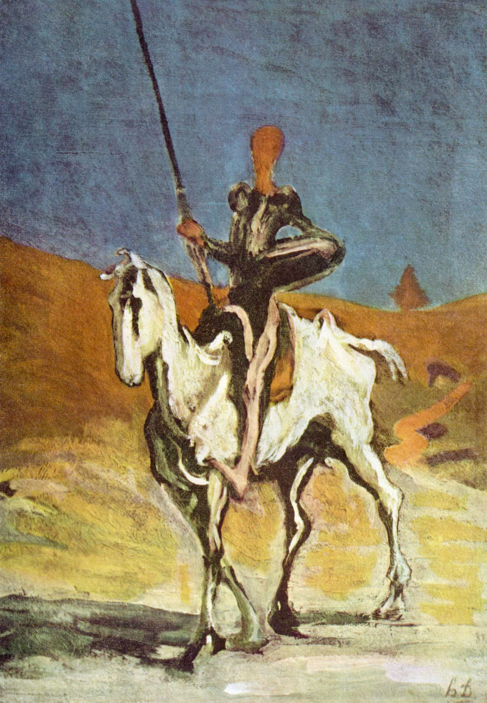 don quixote and what type of charcter he portays writework don quijote and sancho panza drawn by honoreacute daumier