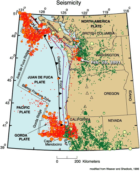 the impact of plate tectonics on the natural disasters on the west coast
