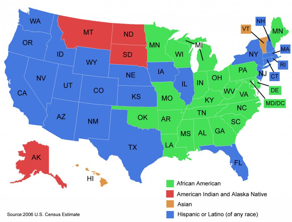 black like me by john griffin and appearances essay by carmen  map of the united states of america showing the largest minority group by color in each