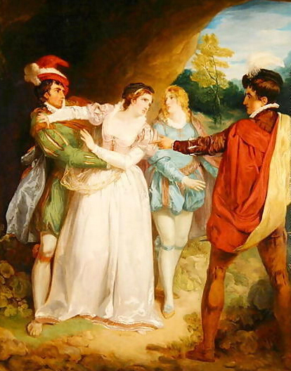 the two gentlemen of verona by william shakespeare writework valentine rescuing silvia from act 5 scene 5 in the two gentlemen of verona
