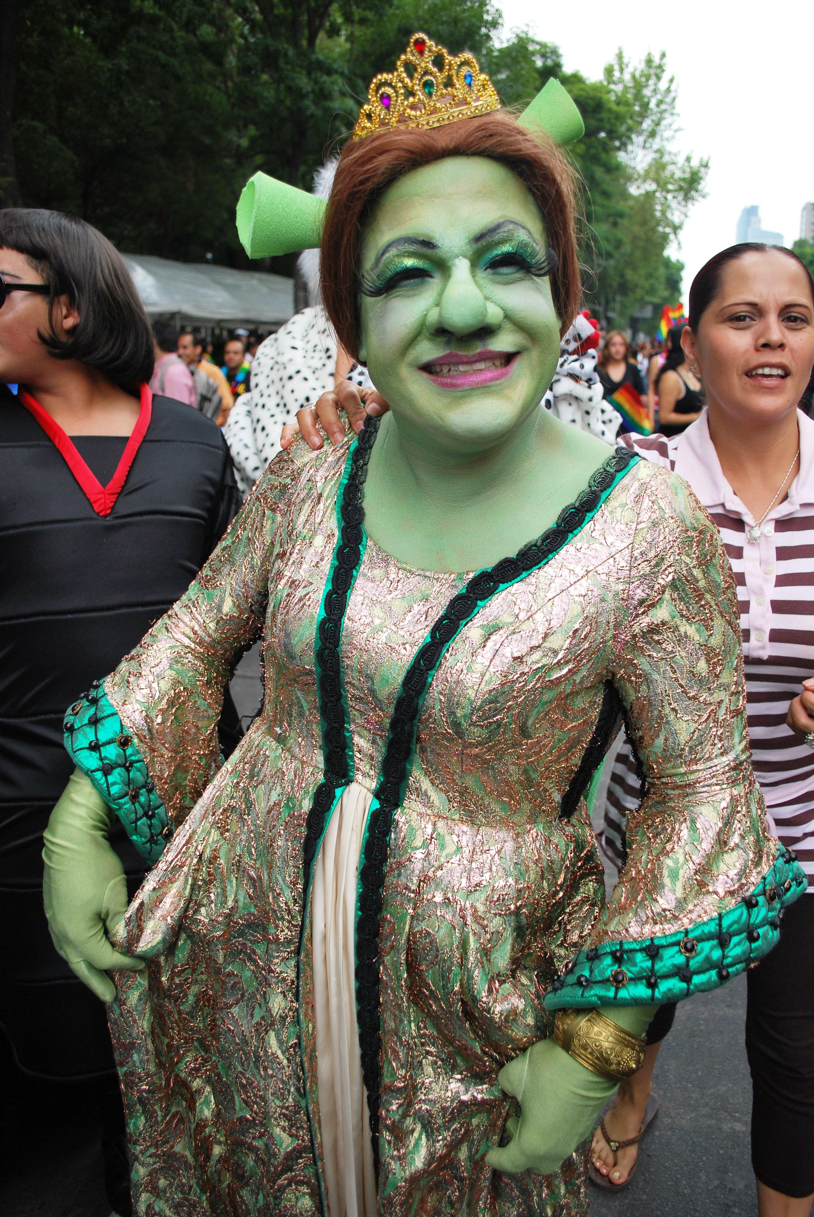 English: Participant in Princess Fiona costume at the 2009 Marcha Gay ...