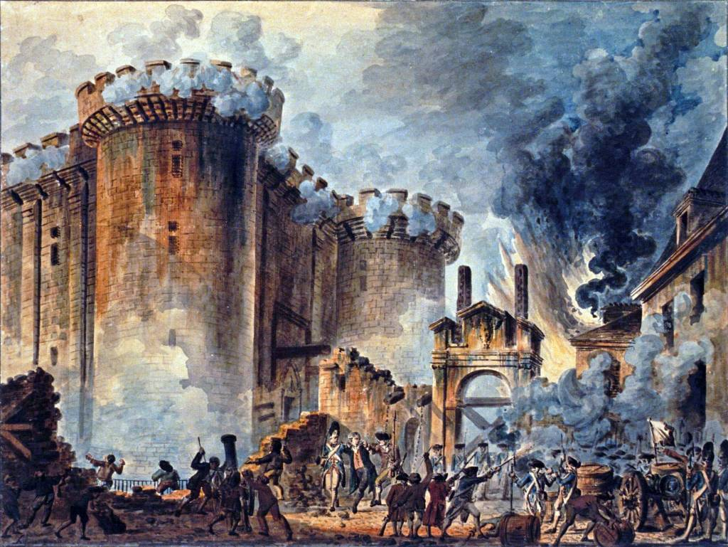 the french revolution was it necessary this essay contrasts the the storming of the bastille visible in the cen