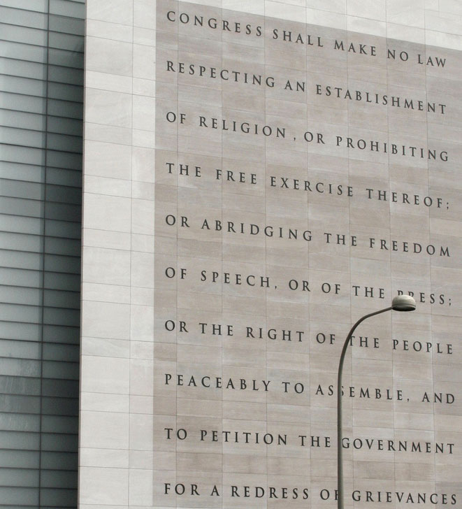 Bill Of Rights Essay  Writework The Newseums Five  Freedoms Guaranteed By The First Amendment Ot The Us  Constitution