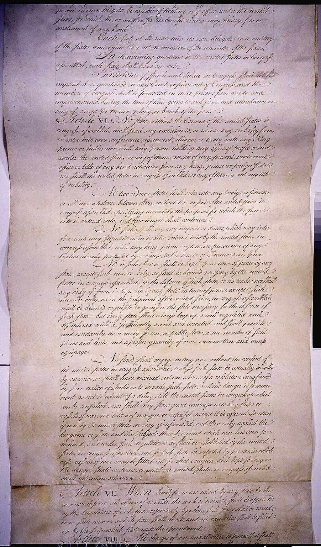 what problems were addressed in the articles of confederation