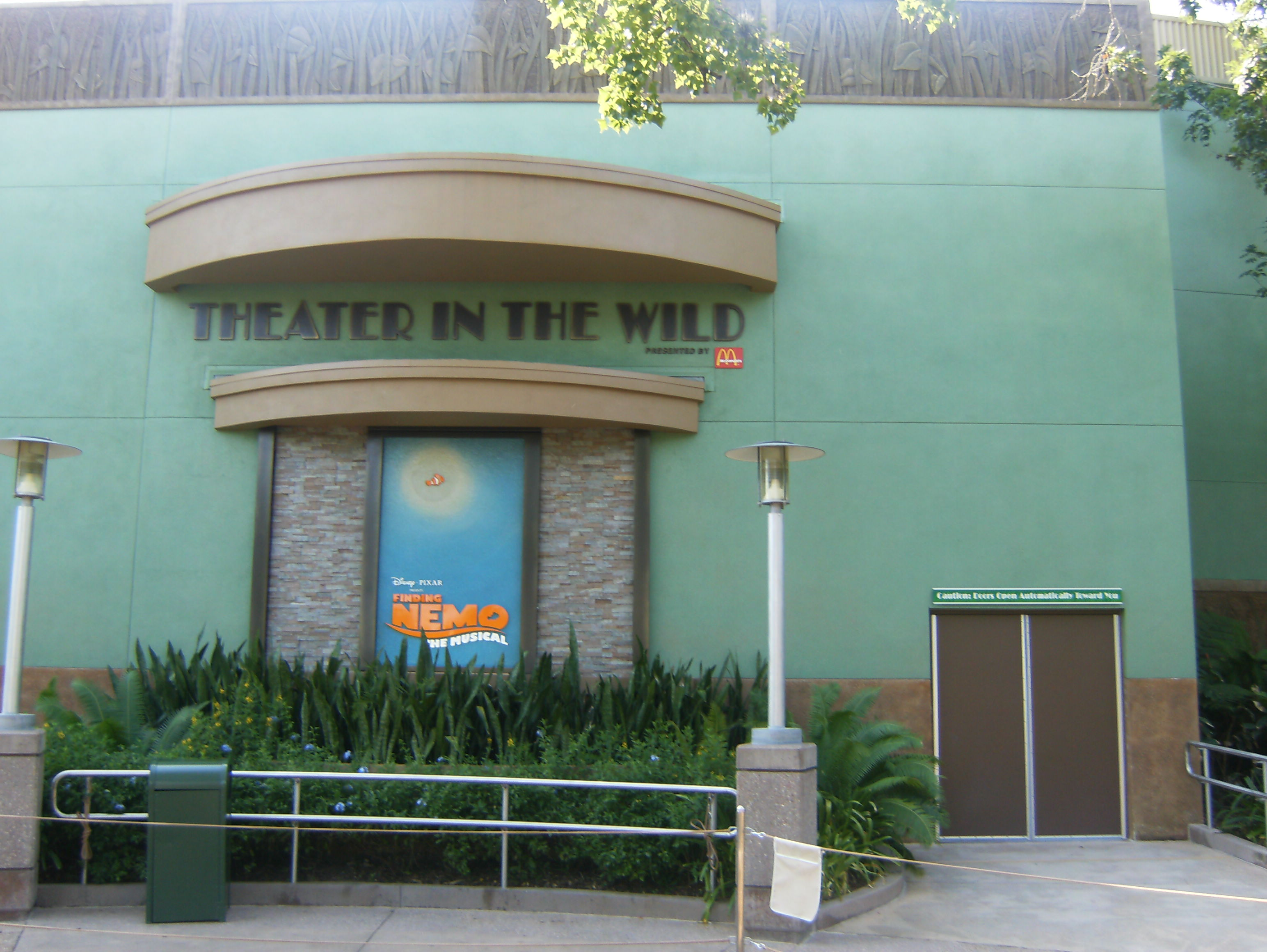 finding nemo movie review writework the entrance to the theater in the wild in disney s animal kingdom florida the