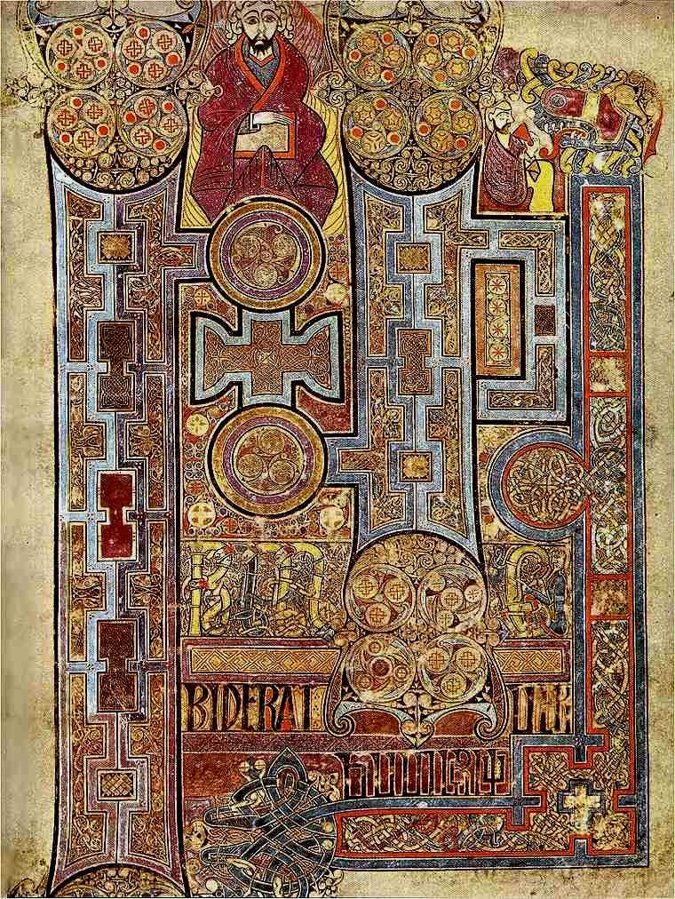 Lion Symbol Of Saint John From The Book Of Durrow Vs Tunc