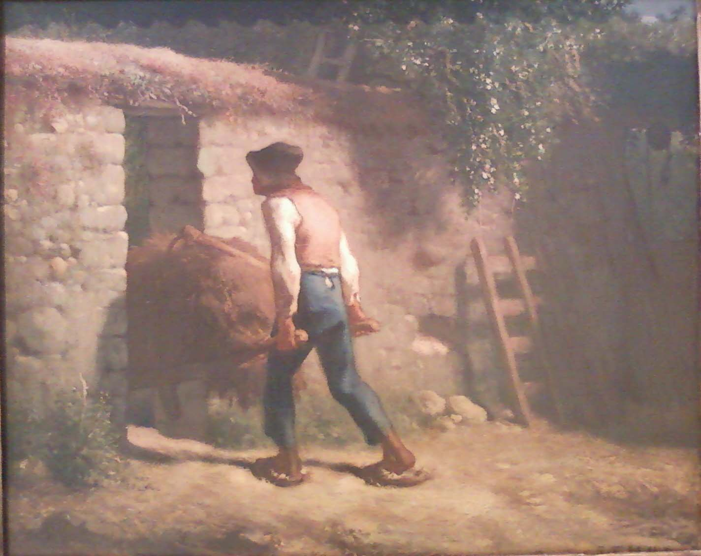 realism essay topics jean francois millet th century french realism writework oil painting of peasant by jean fran ois millet from ca