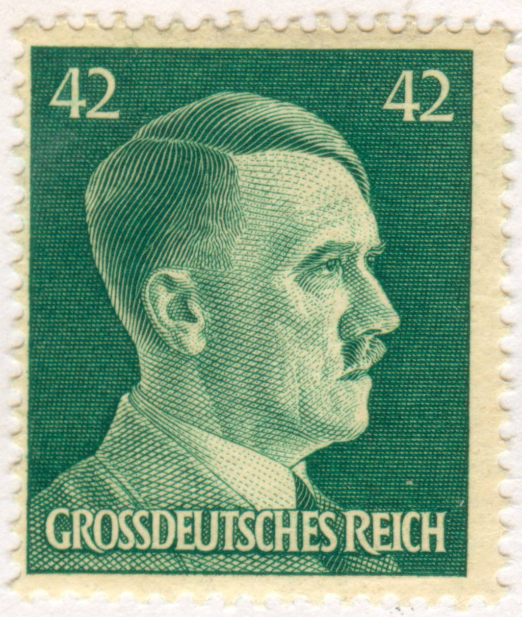 between world war 1 to world war 2 culture and politics stamp of the greater german reich depicting adolf hitler as the fuumlhrer of the reich