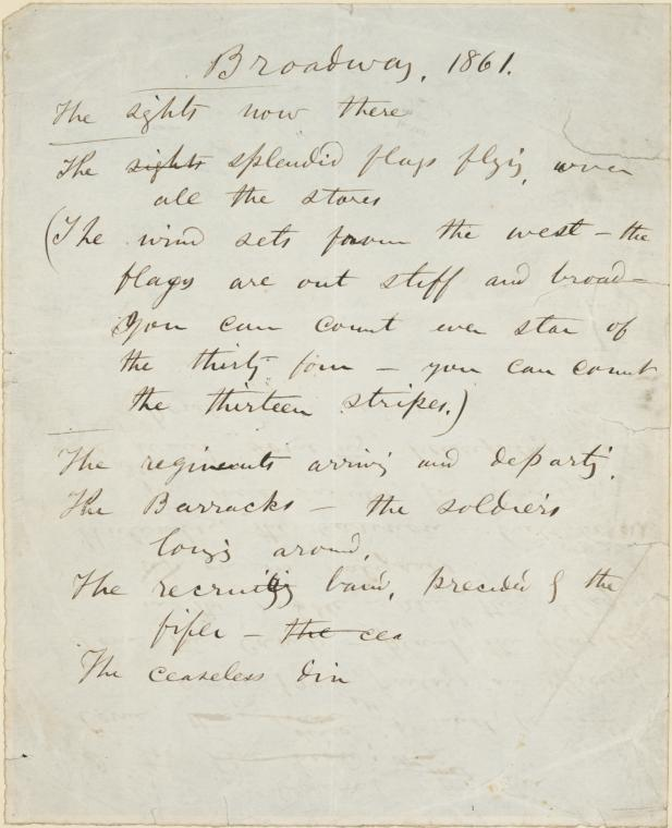 "walt whitman poems essay In his first anthology of poems entitled ""song of myself"", walt whitman reveals some of his views on democracy through the use of symbolism and free verse poetry his use of symbolism and free verse poetry creates indeterminacy, giving the reader hints rather than answers about the nature of the poem in the sixth part of."