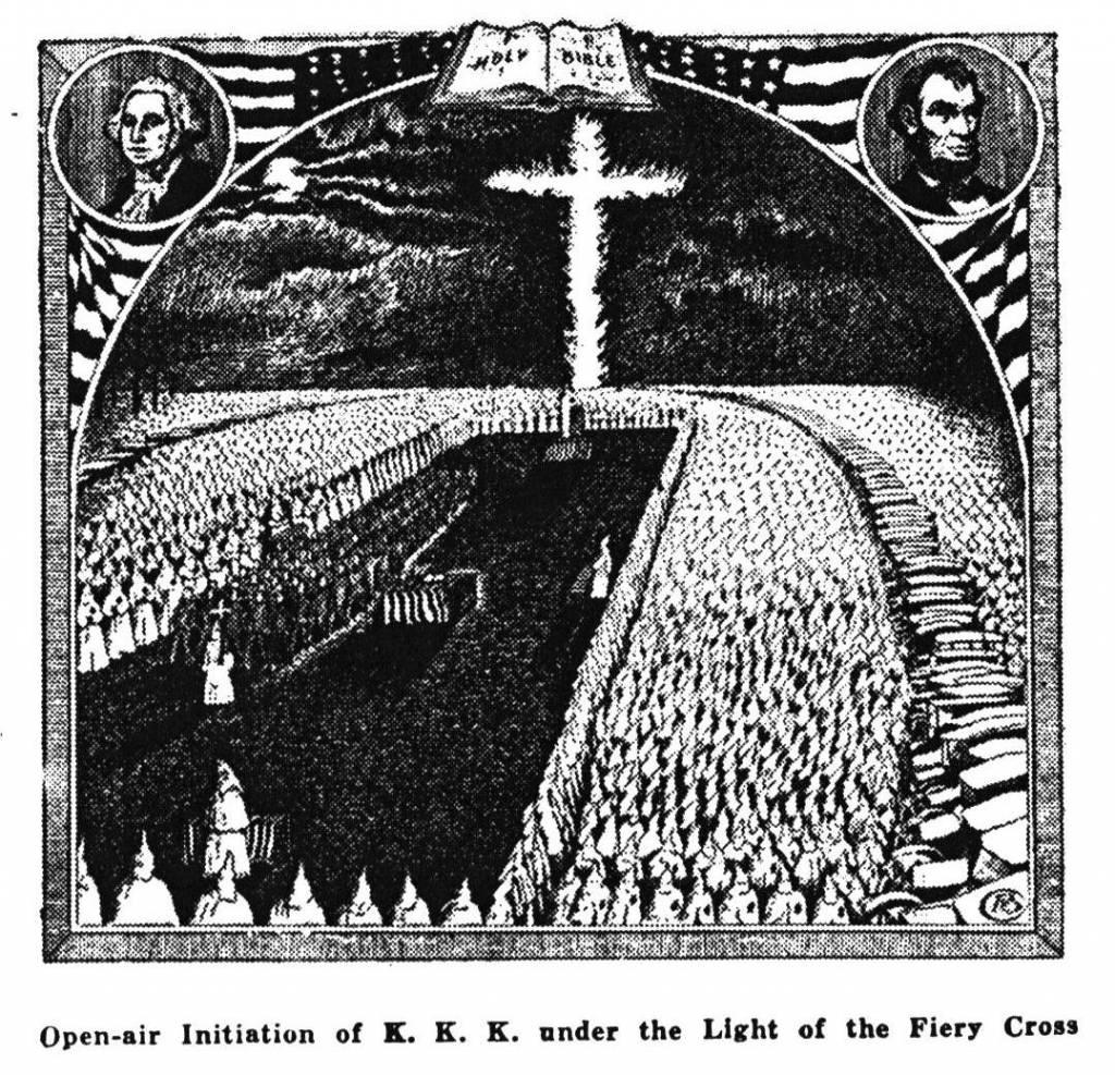 the history of the ku klux klan writework open air initiation of k k k under the light of the fiery cross from the