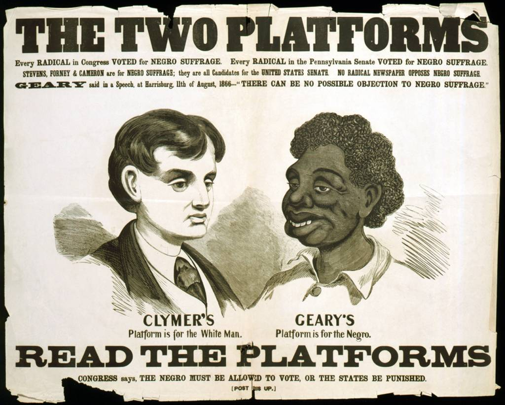 racism in heart of darkness and apocalypse now  opposition poster for the 1866 election geary s opponent hiester clymer ran on a