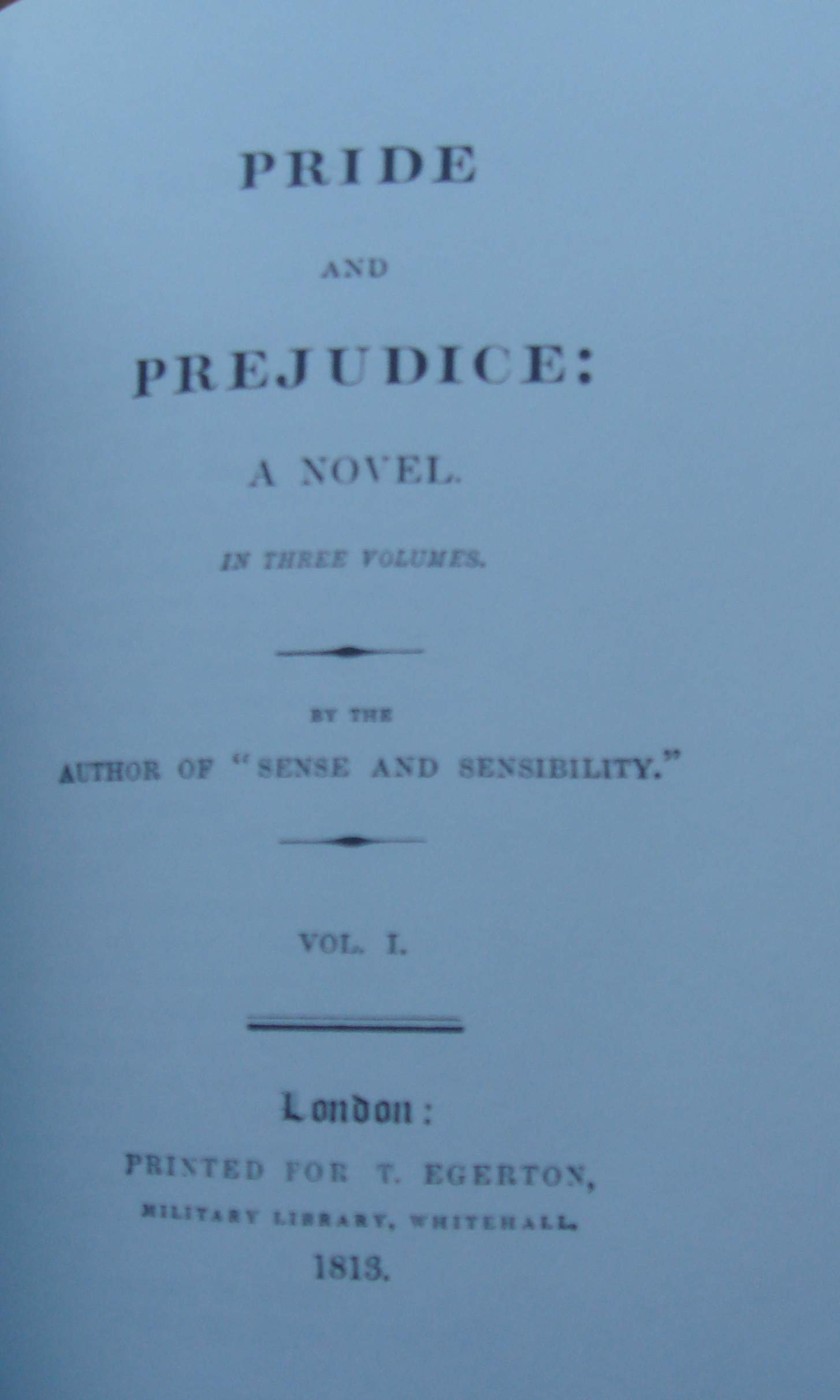 the youngers writework title page of original edition of pride and prejudice 1813