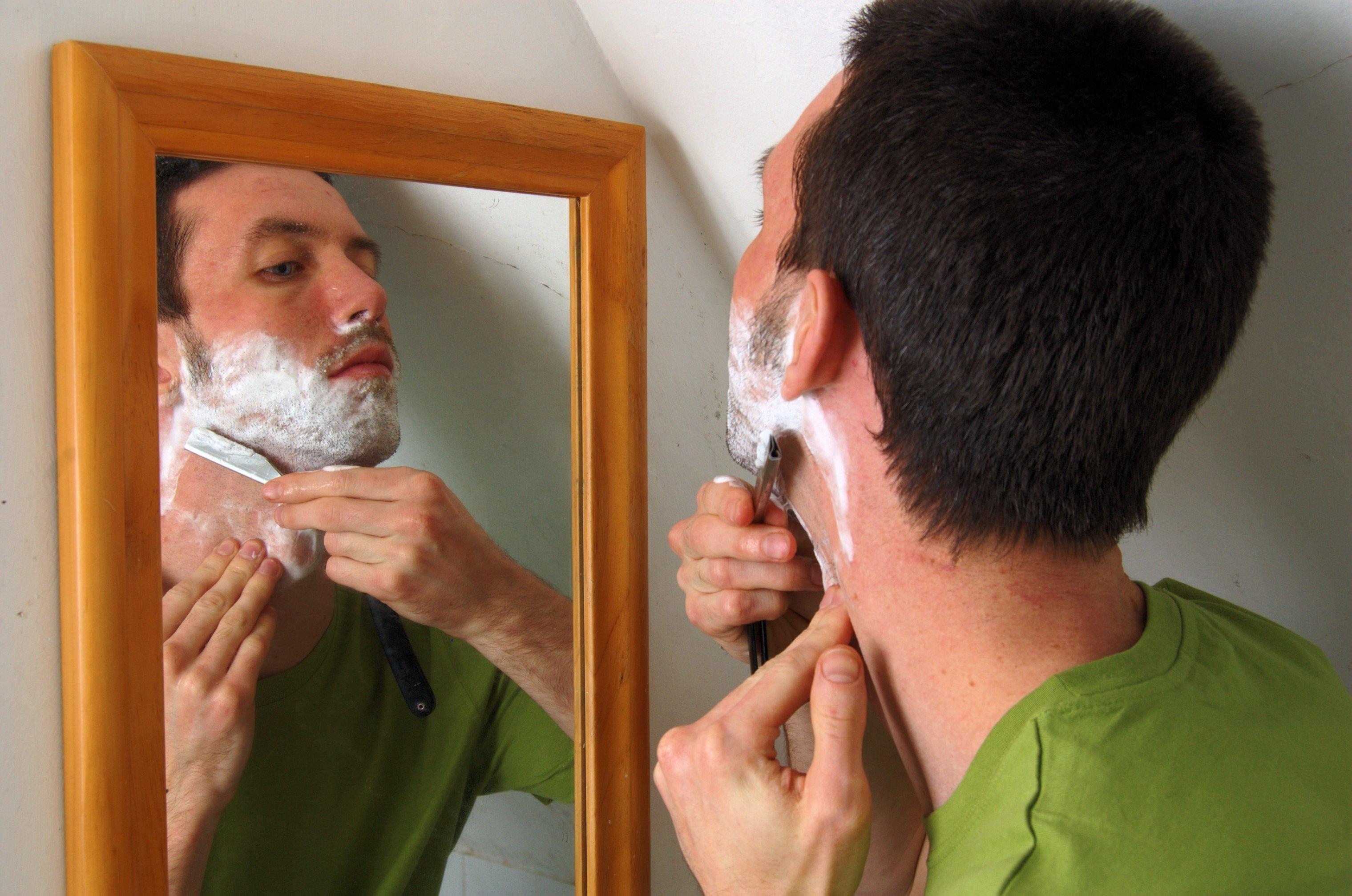 Shaving leslie norris tah